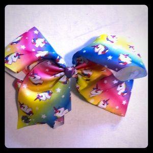 Jojo Siwa rainbow unicorn bow